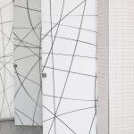 Compartimentari sticla laminata cu folie alba 4.2.4 mm transparent design